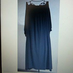 Torrid Dress Black Basket Weave Neck Accent